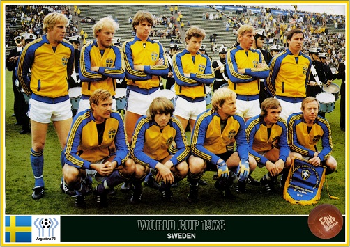 Fan pictures - 1978 FIFA World Cup Argentina. Sweden team