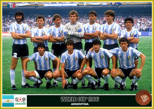 Fan pictures - 1986 FIFA World Cup Mexico. Argentina team